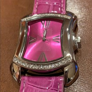 Accessories - Purple watch with Roman numerals and crystals